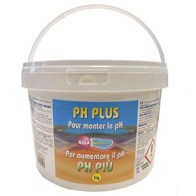 PH PLUS AIGA by MAREVA in Secchio da 5 kg - Correttore granulare per aumentare il ph in piscina