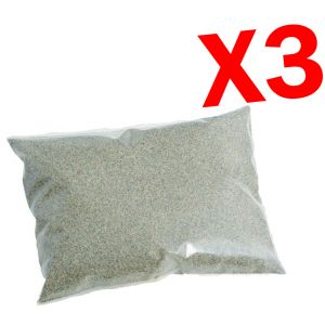 SABBIA QUARZIFERA 75 KG - 3 Sacchi di Sabbia Quarzifera Microperlata Granulometria 0,4-0,8 mm per Pompa Filtro Piscina