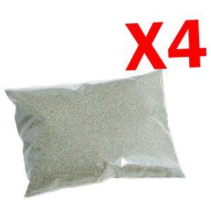 SUPER PROMO 100 KG - 4 Sacchi di Sabbia Quarzifera Microperlata da 25 kg Ricambio per Impianto Filtro Piscina