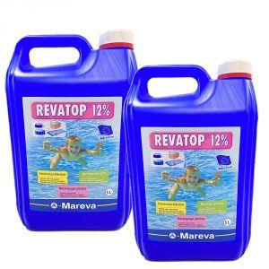 REVATOP 12% KIT 10 LITRI - Ossigeno Attivo per trattamento curativo e preventivo della piscina