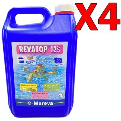 REVATOP 12% Kit Risparmio 20 Litri - Ossigeno Attivo per trattamento curativo e preventivo della piscina