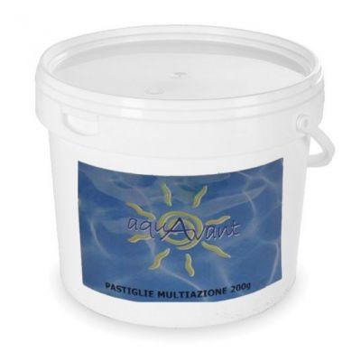PASTIGLIE MULTIAZIONE SENZA RAME 10 KG - Triplex Multifunzione senza solfato di rame per trattamento piscine