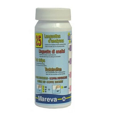 Mareva 20 linguette Analisi pH Biguanide TH TAC - Soluzioni Test Acqua Piscina