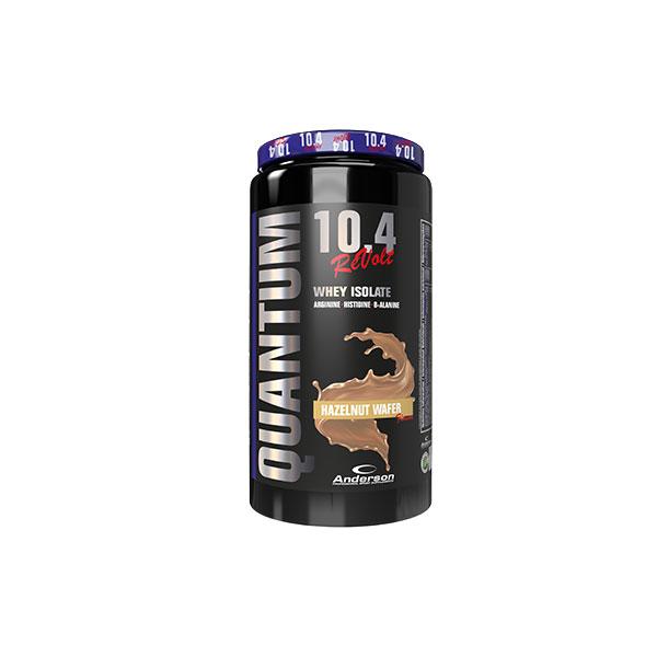 Anderson Quantum 10.4 revolt 800 g Hazelnut Wafer - Integratore di proteine del siero del latte Volactive® isolate