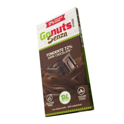Daily Life Gonuts! Senza 75 g Gusto Fondente 72% - Tavolette di cioccolato Gluten Free Vegan