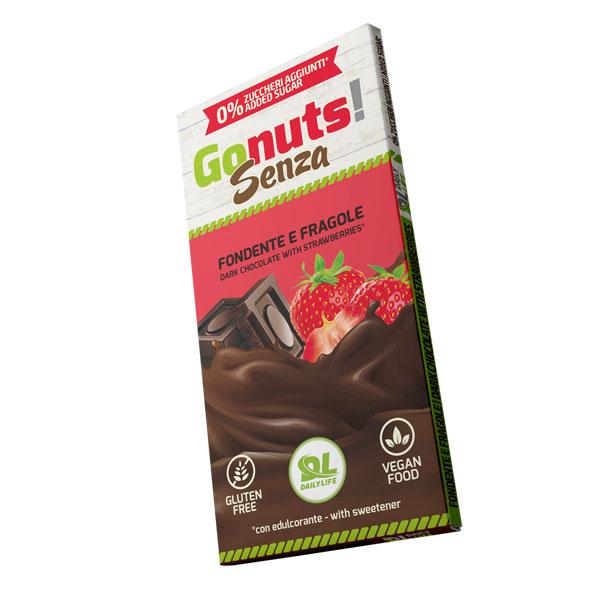 Daily Life Gonuts! Senza 75 g Gusto Fondente e Fragola - Tavolette di cioccolato Gluten Free Vegan
