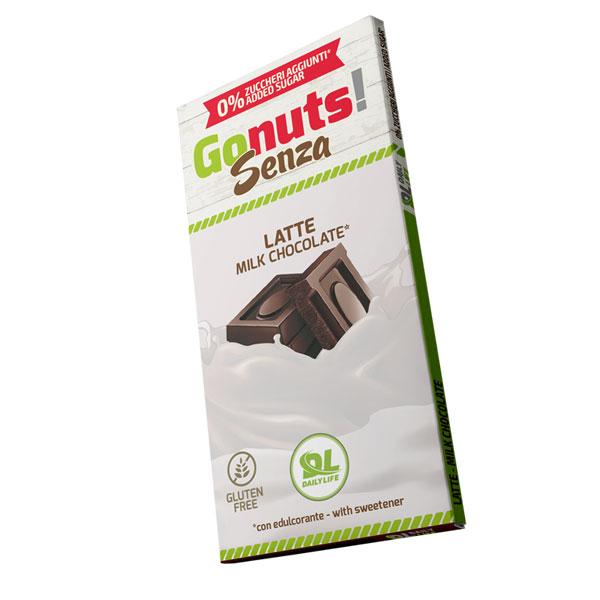 Daily Life Gonuts! Senza 75 g Gusto Latte - Tavolette di cioccolato Gluten Free Vegan