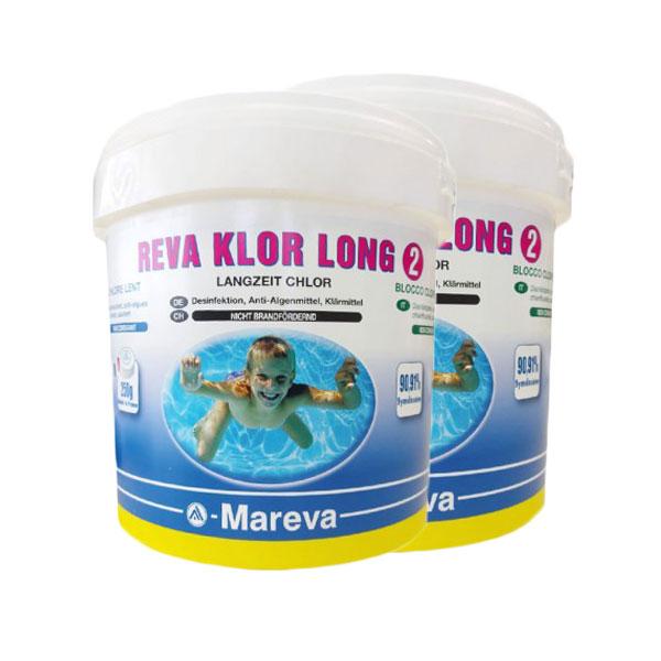 REVA KLOR LONG NEW Conf 10 kg - Tricloro in pastiglie da 250 grammi a lenta dissoluzione
