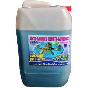 ANTIALGHE MULTI-AZIONE TOP 3 - Tanica da 20 Litri di Anti-alghe curativo e preventivo per piscina, non schiumogeno