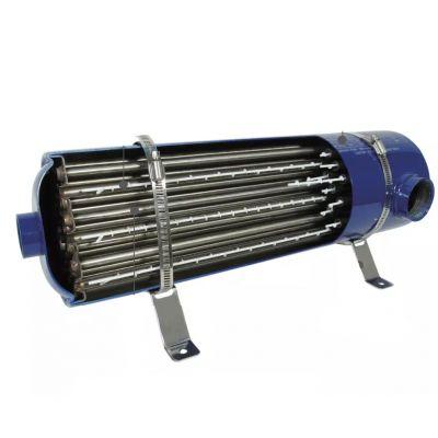 SCAMBIATORE DI CALORE EMAUX EX75 IN ACCIAIO INOX - Potenza 75 KW - Dimensioni 60x16 cm - Portata max 18 m³/h