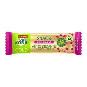 EnerZona Snack 40-30-30 Gold Antiossidante 25 g - Barretta al gusto di goji e amarena, con base di cioccolato fondente