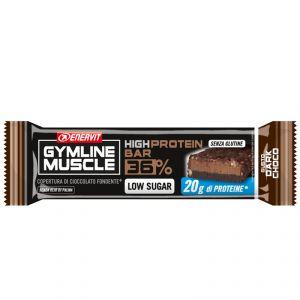 Enervit Gymline High Protein Bar 36% Dark Choco - Barretta proteica da 55g con doppia copertura di cioccolato fondente