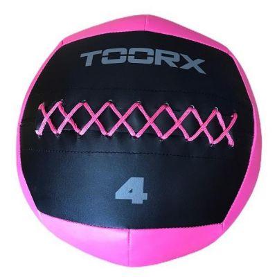 WALL BALL Palla Professionale 4 kg nero-fucsia Diametro 35 cm per allenamenti Crossfit ed Allenamenti Funzionali