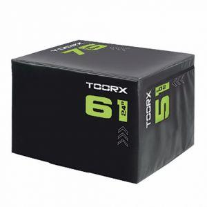 Toorx Soft plyo box 3 in 1, altezza regolabile 76, 61 e 51 cm - Piattaforma light per allenamenti pliometrici e crossfit