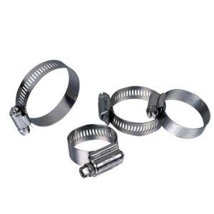 Confezione con 4 fascette stringitubo metalliche Ø da 30 a 50 mm, ideale per tubi sezionabili piscina