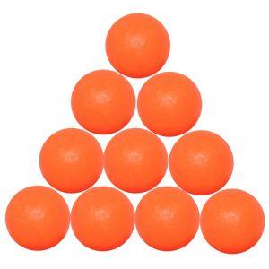 Set 10 palline standard per calcio balilla, colore arancio, diametro 33,1 mm