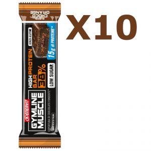 Enervit Gymline High Protein Bar 38% Choco Orange Senza Glutine - Conf 10 barrette da 40g con proteine e vitamine