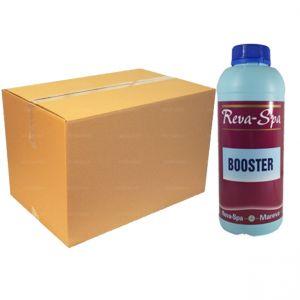 Kit maxi risparmio con 16 bottiglie da 1 litro di Revacil Booster - Chiarificante a base di biguanide per piscine e Spa