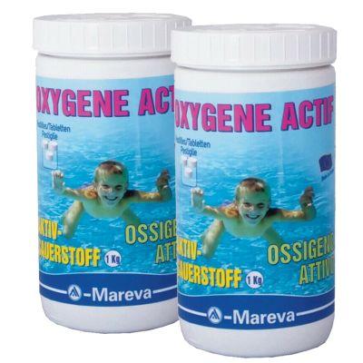 OSSIGENO ATTIVO MAREVA PASTIGLIE 50 GRAMMI - 2 conf da 1 kg per la disinfezione di piscine ed idromassaggio