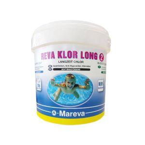 REVA KLOR LONG HIGH QUALITY in secchio da 25 kg - Il prodotto con più alta percentuale di tricloro 90,91%