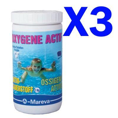 OSSIGENO ATTIVO MAREVA PASTIGLIE 50 GRAMMI Confezione 3 kg - Ossigeno attivo per trattamenti inodore senza cloro