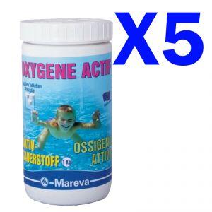 KIT RISPARMIO OSSIGENO ATTIVO 5 KG PASTIGLIE 50 GR - Prodotto per trattamento piscine, spa ed idromassaggio