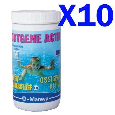 KIT SUPER RISPARMIO OSSIGENO ATTIVO 10 KG PASTIGLIE 50 GR - Prodotto per trattamento piscine, spa ed idromassaggio