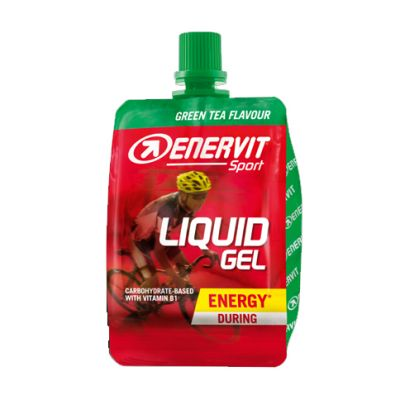 Enervit Sport Liquid Gel Cheerpack 60 ml, gusto Green Tea - Energetico a base di carboidrati - Scadenza 28/01/2022