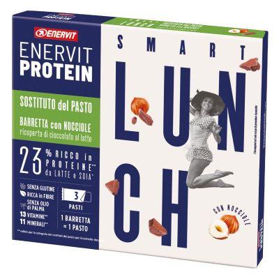 Enervit Protein Astuccio 3 Smart Lunch con Nocciole Ricoperto di Cioccolato al Latte - Scadenza 23/10/2021