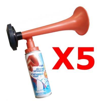 Kit Risparmio con 5 Trombe da stadio a gas 70 ml