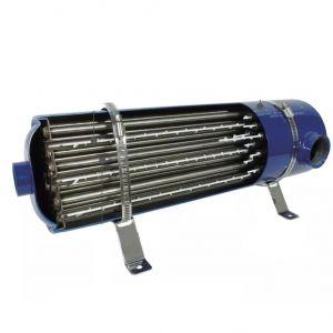 SCAMBIATORE DI CALORE EMAUX EX40 IN ACCIAIO INOX - Potenza 40 KW - Dimensioni 36x16 cm - Portata max 12 m³/h
