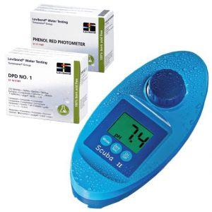 KIT SCUBA II PH+CLORO - Fotometro Elettrico con 250 pastiglie DPD n°1 e 250 pastiglie di Fenolo Rosso