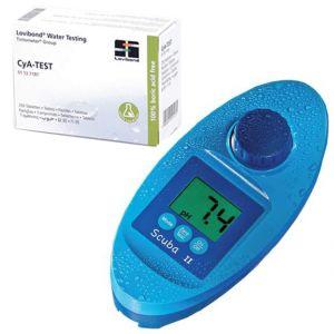 SPECIAL KIT SCUBA + CyA-TEST - Fotometro Elettrico per analisi piscina + 250 pastiglie per misurazione acido cianurico