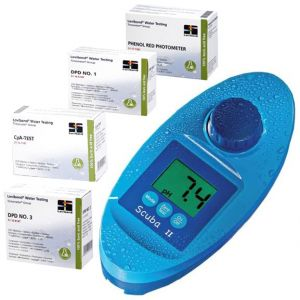 SCUBA II CHECK-UP COMPLETO - Fotometro Elettrico + kit di 1000 pastiglie ideale per un controllo completo dell'acqua