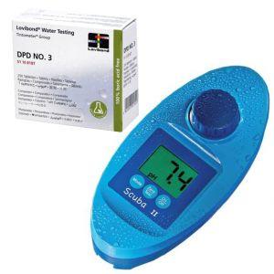 KIT SCUBA II + DPD3 - Fotometro Elettrico per analisi cloro e ph piscina + 250 Pastiglie per cloro totale piscina