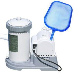 KRYSTAL CLEAR 56636 Pompa Filtro a Cartuccia, Capacità 5678 lt/h + Retino Piatto di Superficie