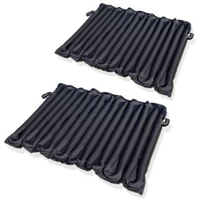 2X TAPPETINI A RISCALDAMENTO SOLARE per piscine fuoriterra fino 10000 lt - Tappeti Solari in PVC, dim. 130x80 cm