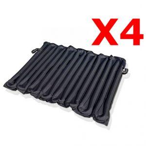 4X TAPPETINI A RISCALDAMENTO SOLARE per piscine fuoriterra fino 15000 lt - Tappeti Solari in PVC, dim. 130x80 cm