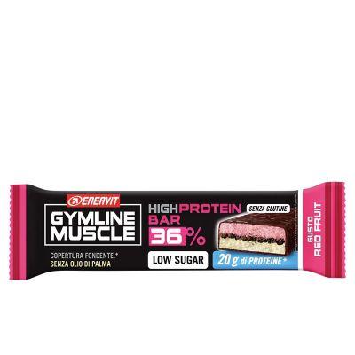 Enervit Gymline Muscle High Protein Bar 36% - Barretta Proteica 55 gr Frutti Rossi - Senza Glutine - Scadenza 15/10/2021