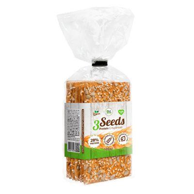 Daily Life 3Seeds Protein CrispBread 100 gr - Pane croccante con l'aggiunta di farine integrali di frumento e segale