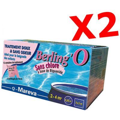 PROMO PACK BERLING'O 50 ML, totale 24 sacchettini - Trattamento piscine di piccole dimensioni 2-4 metri cubi