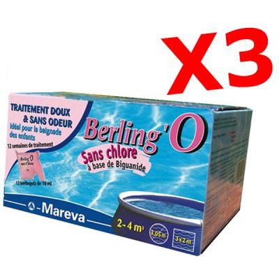 PROMO PACK BERLING'O 50 ML, totale 36 sacchettini - Trattamento piscine di piccole dimensioni 2-4 metri cubi