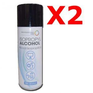 KIT RISPARMIO con 2 Isopropyl Alcohol Spray 400 ml - Alcool Isopropilico 70% Spray con Beccuccio