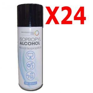 KIT MAXI RISPARMIO con 24 Isopropyl Alcohol Spray 400 ml - Alcool Isopropilico 70% Spray con Beccuccio