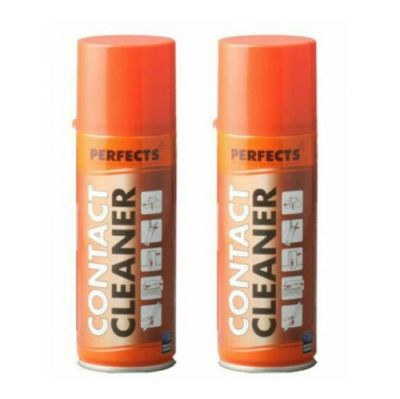 2X CONTACT CLEANER PERFECTS 200 ML, Totale 400 ml - Spray Pulisci Contatti Lubrificante Oleoso Disossidante