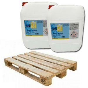 KIT MAXI RISPARMIO 600 KG Bancale con 24 Taniche di Ipoclorito di Sodio 25 kg - Cloro Liquido 14-15% per pompe dosatrici