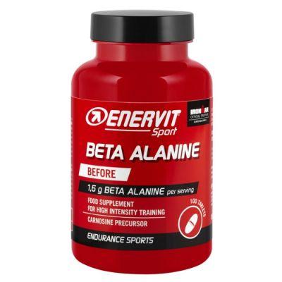 Enervit Sport Beta Alanine Before, barattolo 100 cpr - Precursone carnosina allenamenti intensità - Scadenza 31/01/22