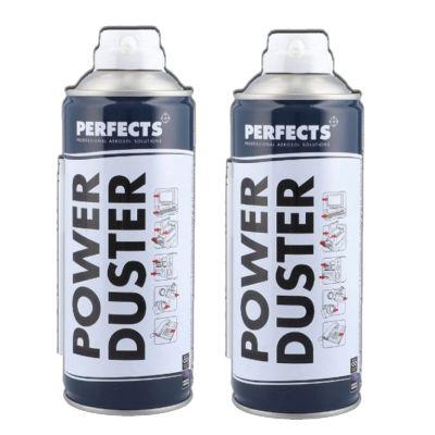 POWER DUSTER PERFECTS 400 ML, con cannuccia - 2 Bombolette di Aria Compressa per Pulizia Casa, Auto, Ufficio