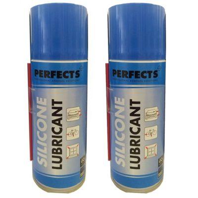 Kit 2 Bombolette di Lubrificante Silicone Professionale Perfects da 200 ml - Lubrifica e Protegge dalla corrosione