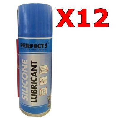 Kit 12 Bombolette di Lubrificante Silicone Professionale Perfects da 200 ml - Lubrifica e Protegge dalla corrosione